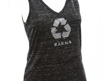 Karma | Soft Lightweight V-neck tank top | What goes around comes around | Zen
