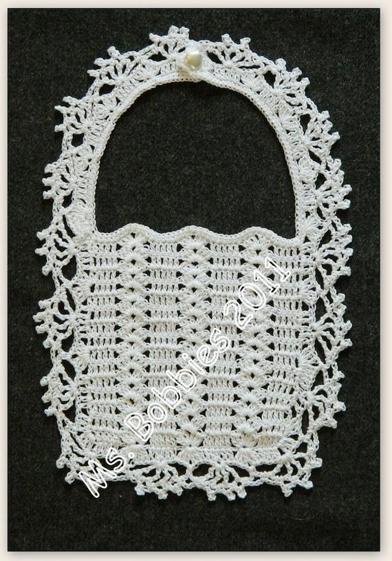Crochet Baby Bib Pattern Vintage 1950s Pdf 1953a A Best Etsy
