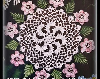 Crocheted Irish Rose Doily Pattern - Vintage 1949 - PDF No. 02070809 - Instant Download
