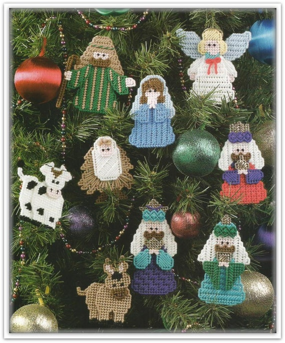 Plastic Canvas Christmas Ornament Patterns.Christmas Ornament Patterns Plastic Canvas Nativity