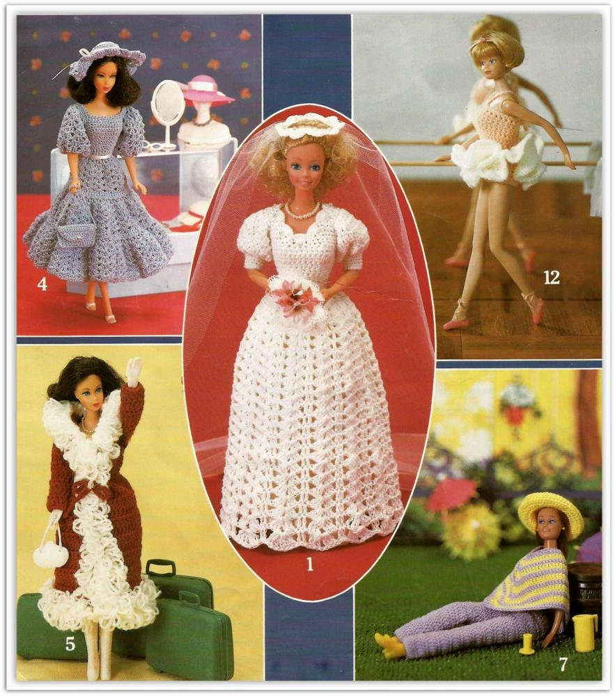 Barbie Clothes Patterns 12 Outfits To Crochet For A Fashion Etsy