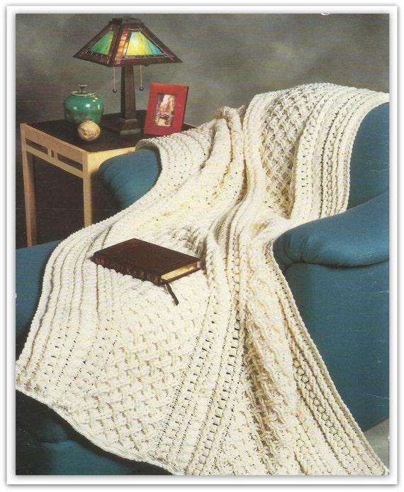Aran Afghan Crochet Pattern PDF AR147092 Pattern is in   Etsy