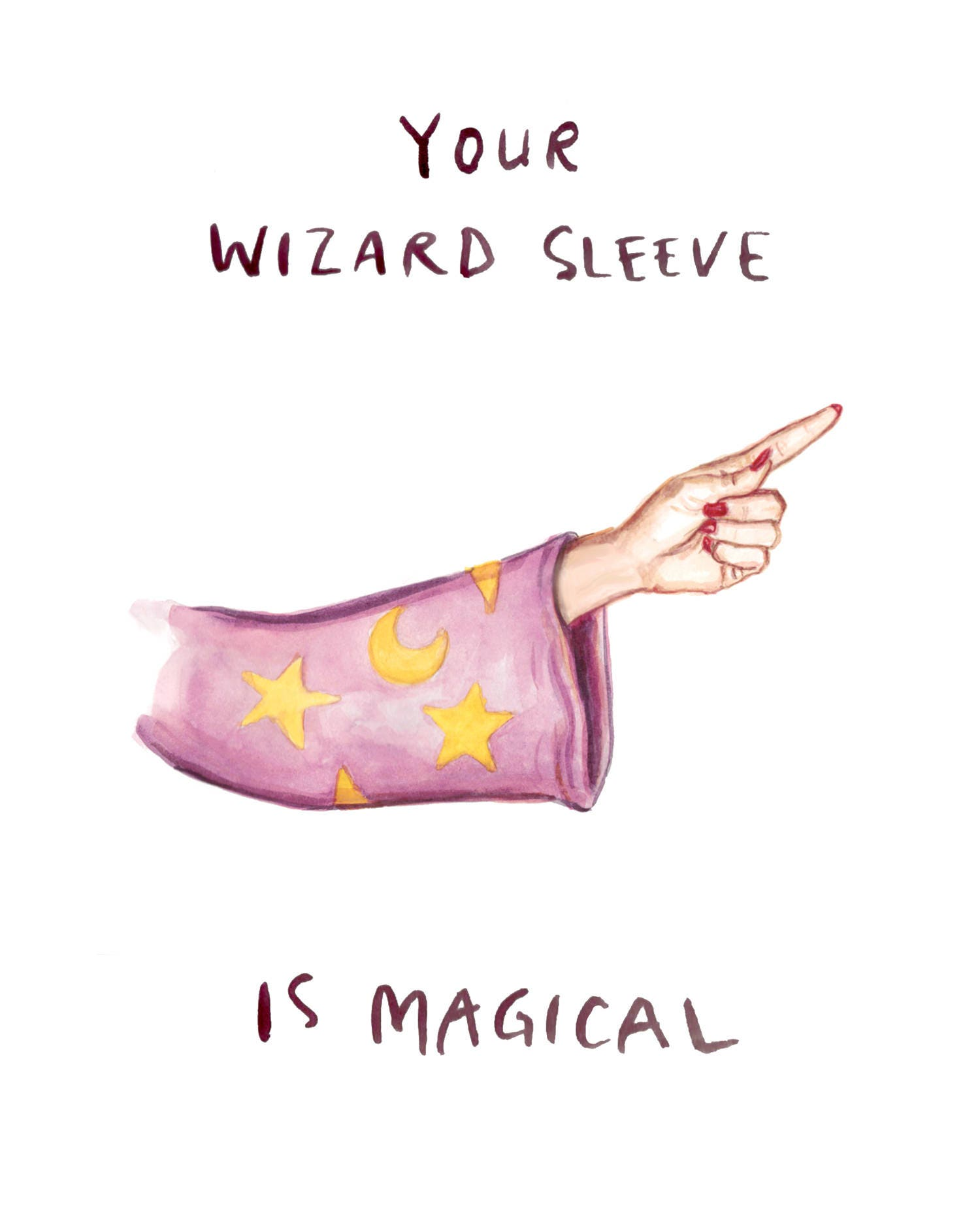 Wizard Sleeve Funny Nsfw Valentine Birthday Card Your Etsy