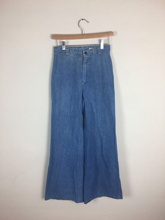 Vintage 1970s Blue Dittos High-Waisted Jean Bell B