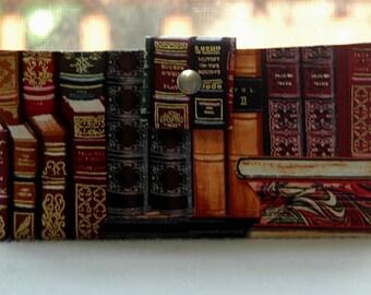 Women's Wallet, Clutch, handmade wallet, ladies wallet, book lover gift, literary gift, bookworm gift, bookworm for her, teacher gift