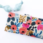 Women's Wallet-Floral wallet-Linen wallet-Wallet for women-Vegan wallet-Beautiful women's wallet-Women's gift-Gift for Woman
