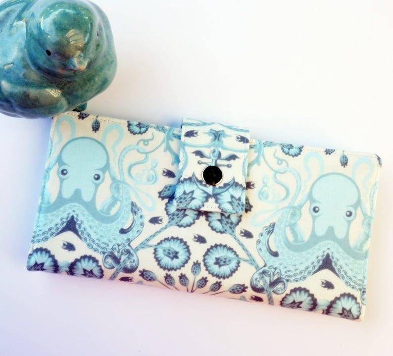 Octopus wallet  iphone clutch vegan wallet womans clutch image 0