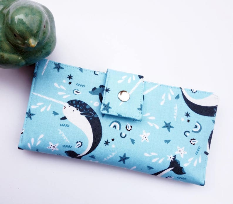 Narwhal women's wallet narwhal gift whale gift ocean image 0
