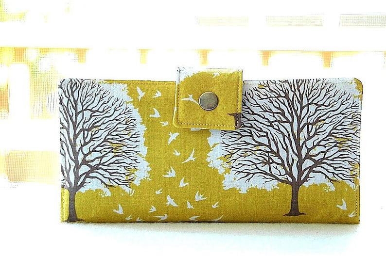 Wallet clutch in beautiful yellow tree image 0