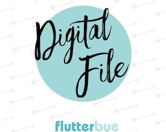 Digital File with CUSTOM Fingerprint - Single Print