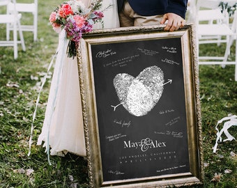 Classic Black and White Wedding Poster Alternative Guest Book Canvas Wedding Welcome Sign Chalkboard Style Decoration