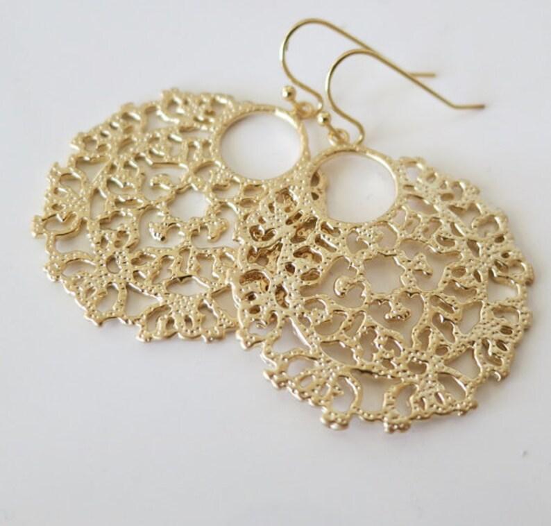 ee668c96a Filigree EarringsBoho Wedding Chic EarringsClip onFeminine | Etsy