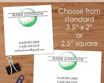 Golf business cards etsy golf ball 50 custom business or calling cards colourmoves