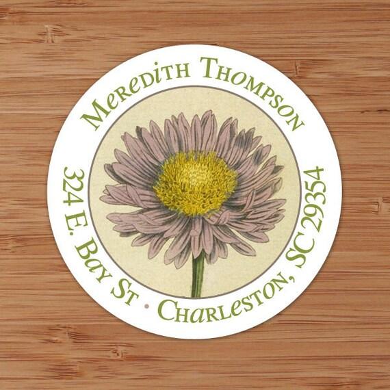 30 Custom Vintage Flower Girl Personalized Address Labels