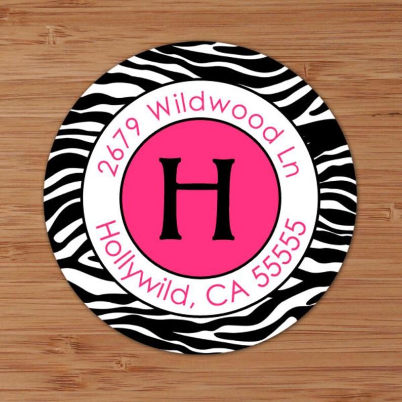 Custom Address Labels or Stickers Zebra Wild Side