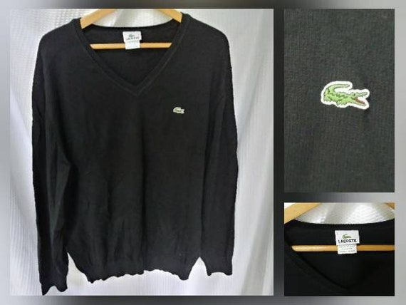 5dee4c39ba71 Lacoste Gator Sweater Mens XL Vintage Lacoste V-Neck Sweater