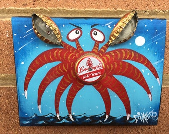 Bottle Cap Crab, Leinenkugel's Crab