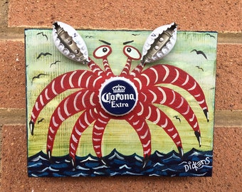 Bottle Cap Crab, Corona Extra !