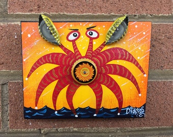 Bottle Cap Crab, Shock Top Sun Crab