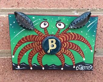 Letter B Bottlecap Crab