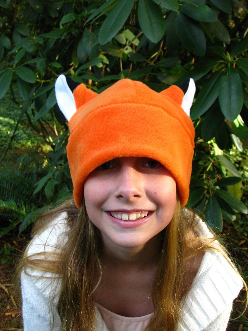 3ffd63949ed Fox Hat Orange Fleece Fox Ear by Ningen Headwear