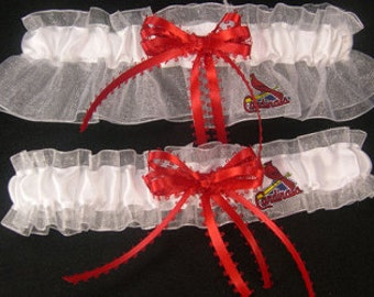 Arizona Cardinals Football Wedding Bridal Garters Set RegularPlus Size
