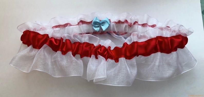 Thundering Herd Wedding Bridal Garter Handmade Can Be Personalized Marshall