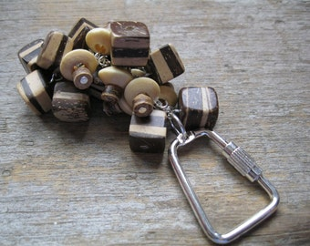 Chunky Wood Bead Key Chain