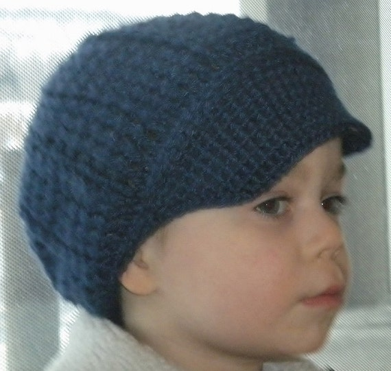 32ba2b112ae29 Crocheted Baby Newsboy Cap Hat Lapis Infant   Toddler Sizes