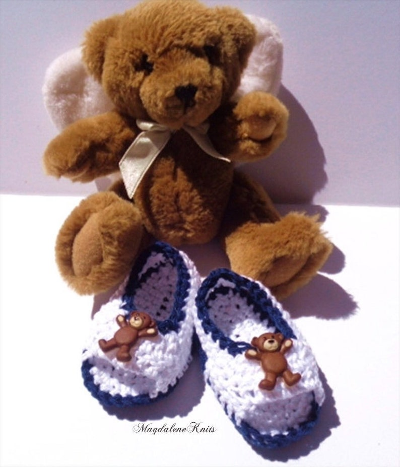Crocheted Sandals Baby Boy Newborn 0 6 mo Summer Cotton Yarn image 0