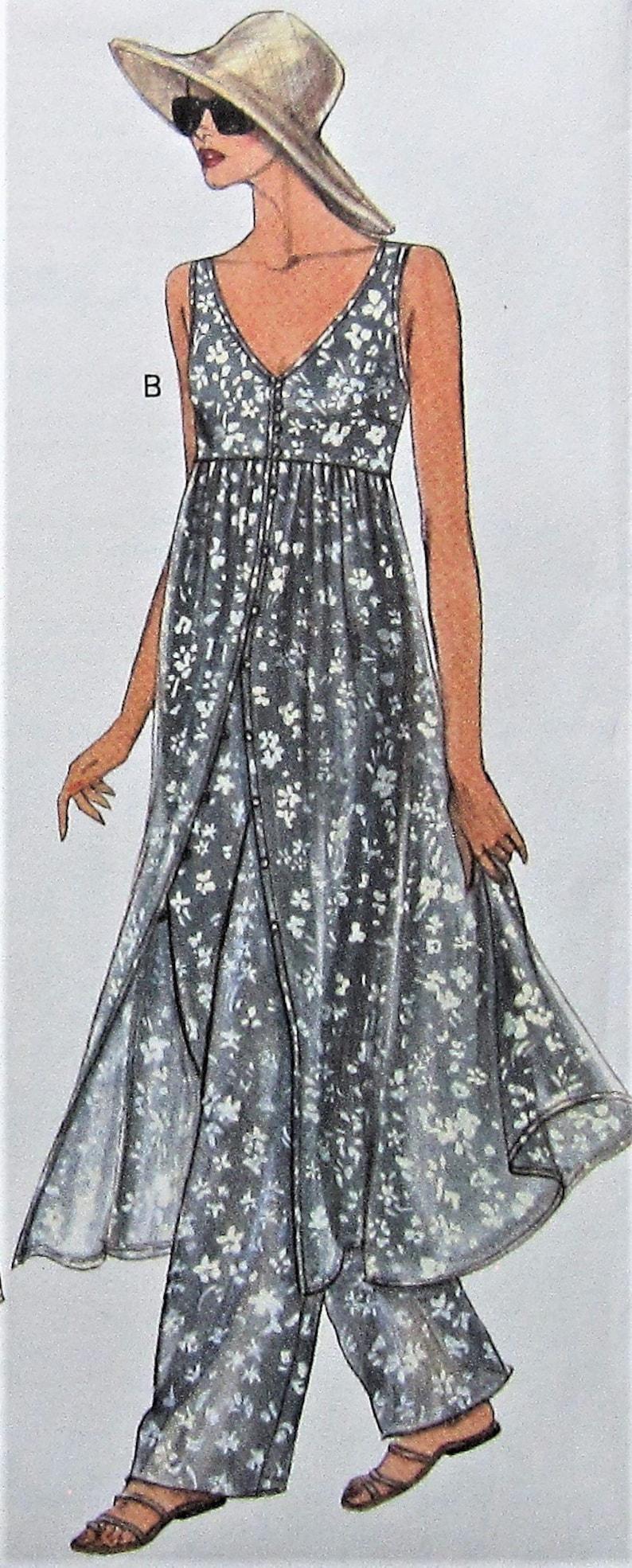c6a919ac3f426 Tunic Dress and Pants Sewing Pattern UNCUT Vogue 8974 Sizes | Etsy