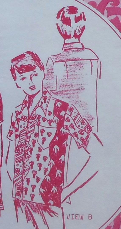 Vintage 70er Jahre Hawaiihemd Schnittmuster UNCUT Pacifica | Etsy