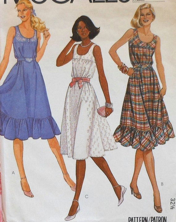 Sundress Sewing Pattern McCalls 40 Size 40 Etsy Adorable Sundress Sewing Pattern