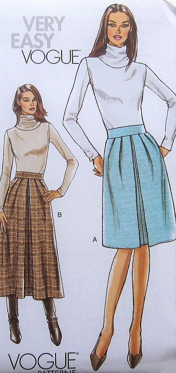 Skirt Sewing Pattern Uncut Vogue V8602 Sizes 16 22 Plus Size Etsy