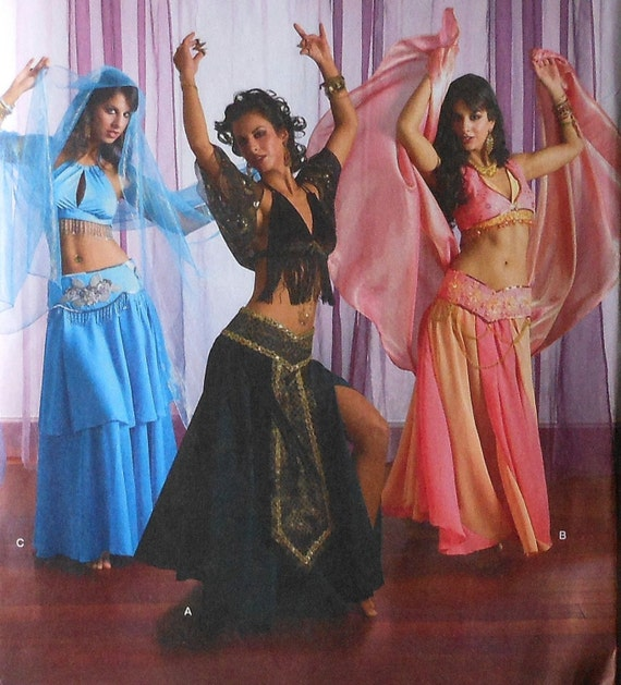Simplicity 4249 Belly Dancer Bollywood Costume pattern skirt top dress NEW Uncut