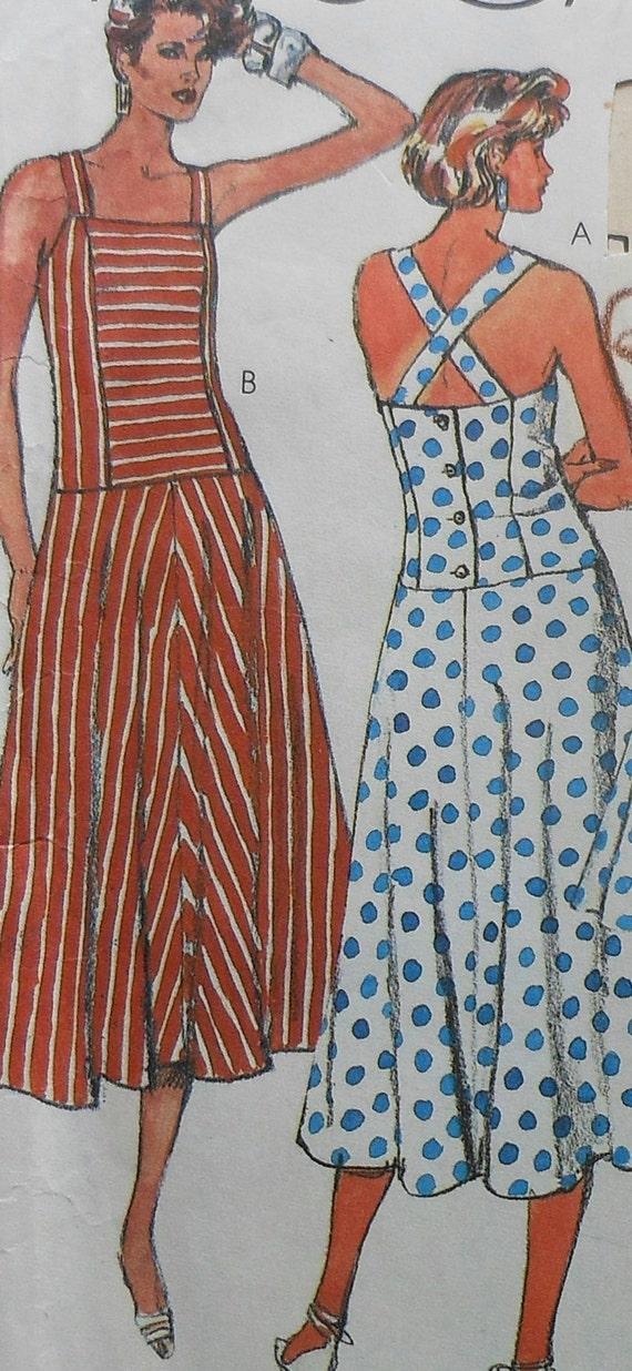 Sundress Sewing Pattern Mccalls 2538 Uncut Sizes 12 16 Etsy