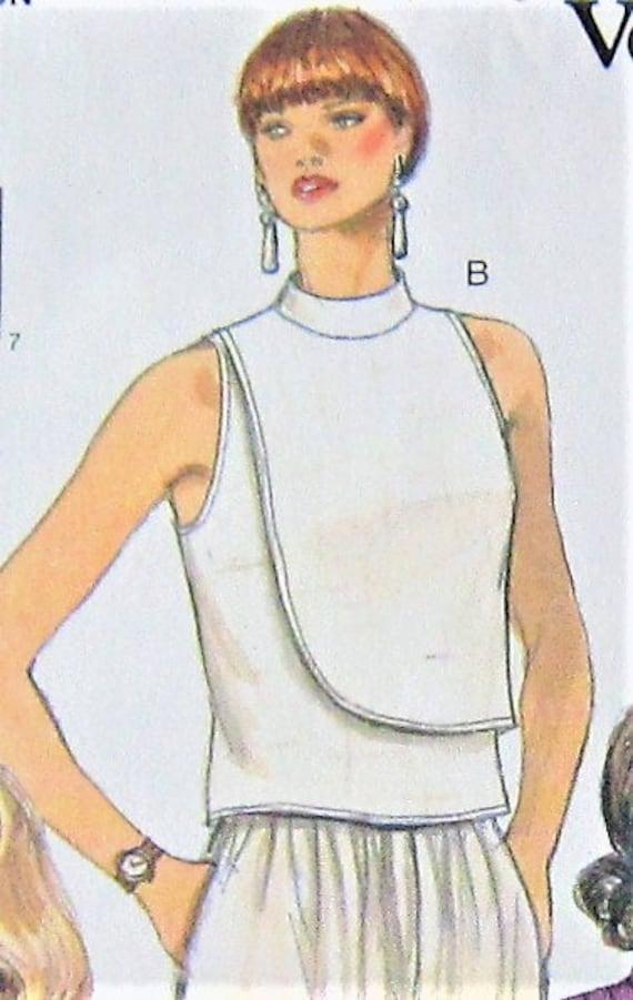 a3f71864af302 Blouse Sewing Pattern UNCUT Vogue 9156 Sizes 8-12