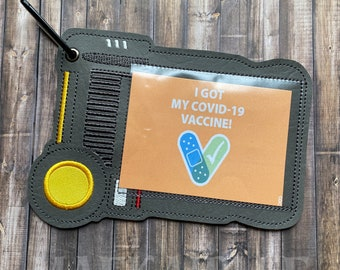 Vaccine Passport ID Holder - Badge Tag - Luggage Bagtag - Lanyard Keeper