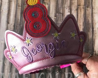 Birthday Crown -  Happy Birthday Headband Tiara with Interchangeable Numbers