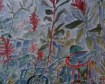 Amaranth Dreams in a Summer Garden