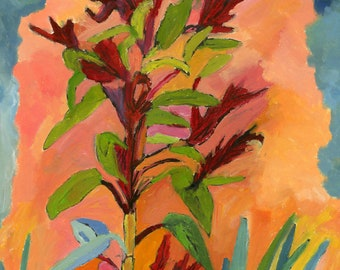 Amaranth with Red Pot