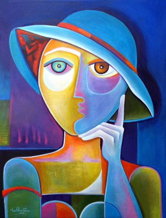 Cubisme Art abstrait peinture acrylique œuvres dart