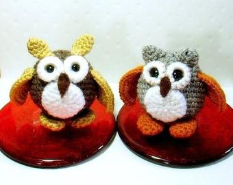 Amigurumi owl patterns - Egg Owls - 2 Crochet amigurumi animal tutorial PDF