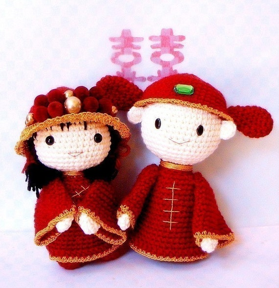 Amigurumi Wedding Dolls Pattern pattern by Denizmum - Ravelry | 588x570