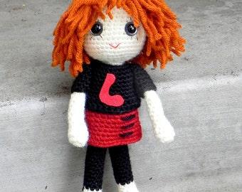 Lena - Crochet Amigurumi girl doll pattern / PDF