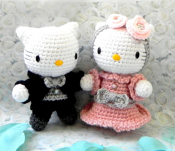 Crochet Pattern Wedding Couple SET Bride Groom Wave And Ruffles ... | 491x570
