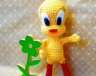 Amigurumi pattern - Hello Tweety - Crochet amigurumi toy tuorial PDF