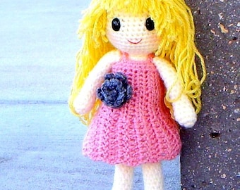 Aino - Amigurumi crochet girl doll pattern / PDF