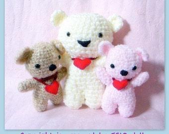 Huggy Bear amigurumi pattern - crochet amigurumi Animal toy doll tutorial PDF