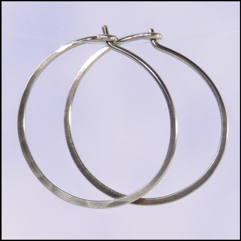 1 inch diameter hoops small 18 gauge niobium earrings